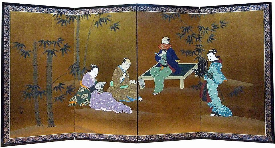 元禄浮世絵美人-Tea time in bamboo garden-